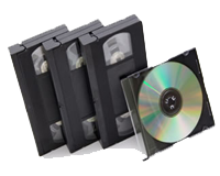 Any VHS tape or size to DVD (straight transfer): click to enlarge